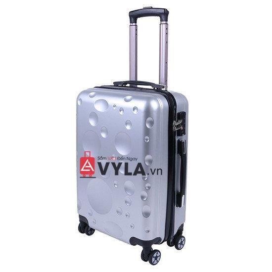 Vali kéo nhựa trơn màu bạc giá rẻ tphcm