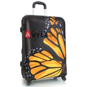 Vali kéo nhựa họa tiết bướm đen size 20 mẫu 7