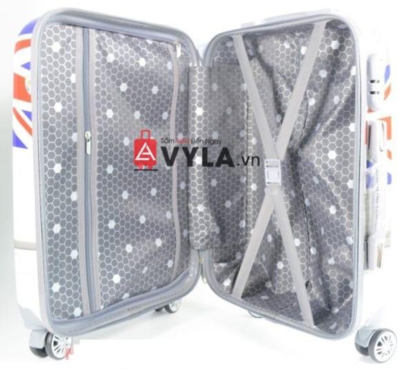Vali kéo nhựa họa tiết size 20 mẫu 2