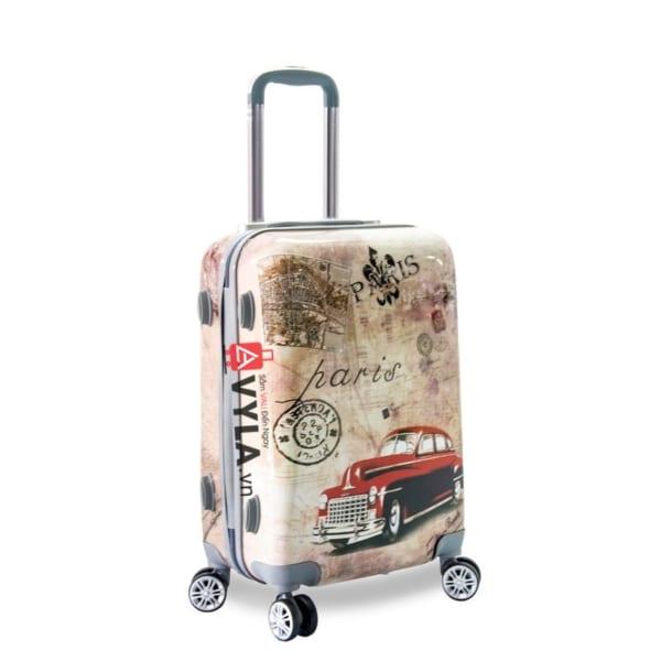 Vali kéo nhựa họa tiết size 20 mẫu 3
