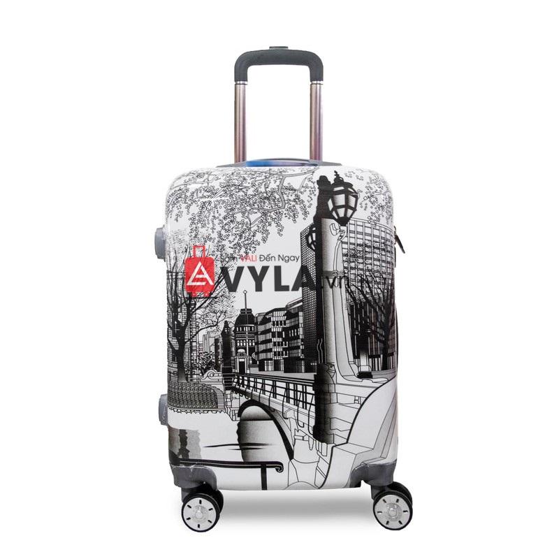 Vali kéo nhựa họa tiết size 20 mẫu 5 giá rẻ