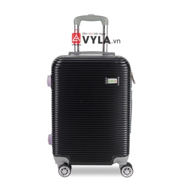 Vali kéo nhựa trơn màu đen size 20 mẫu 8 giá rẻ
