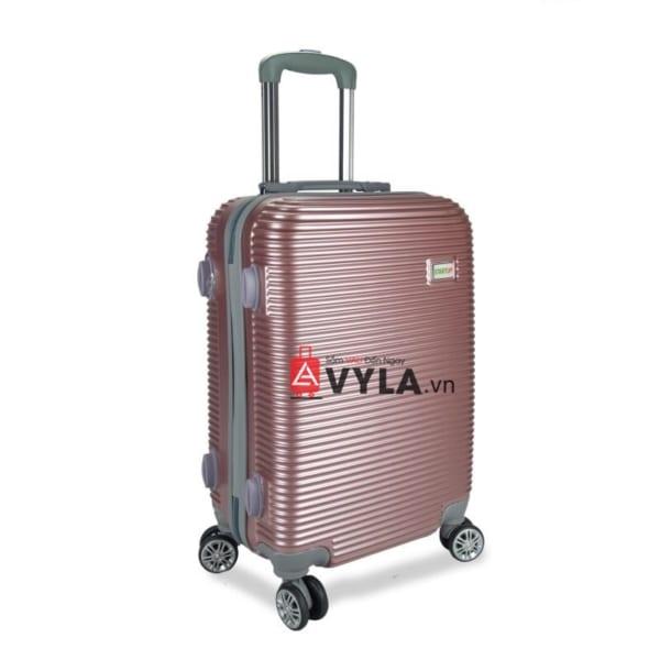 Vali kéo nhựa trơn màu hồng size 20 mẫu 8 giá rẻ tại hcm