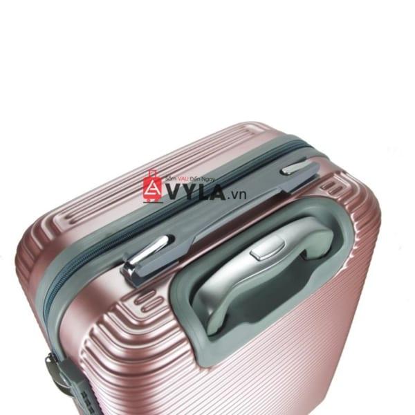 Vali kéo nhựa trơn màu hồng size 20 mẫu 8 giá