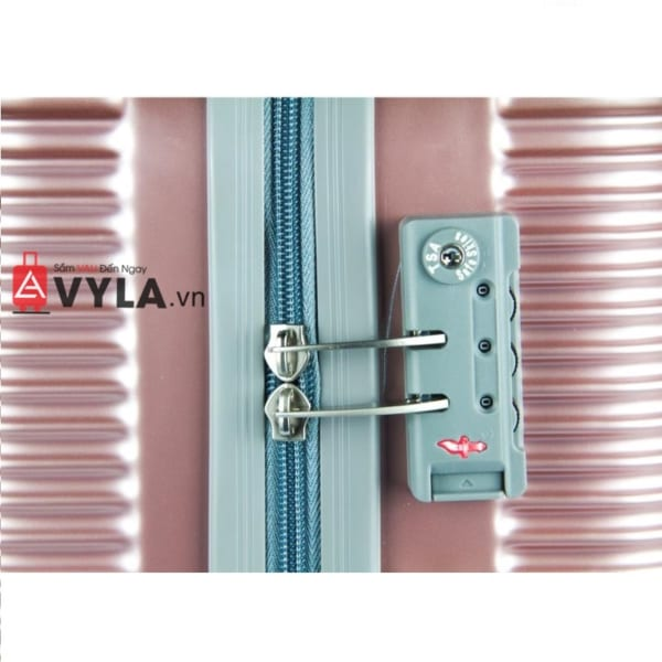 Vali kéo nhựa trơn màu hồng size 20 mẫu 8