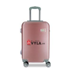 Vali kéo nhựa trơn màu hồng size 20 mẫu 8 giá rẻ tại tphcm