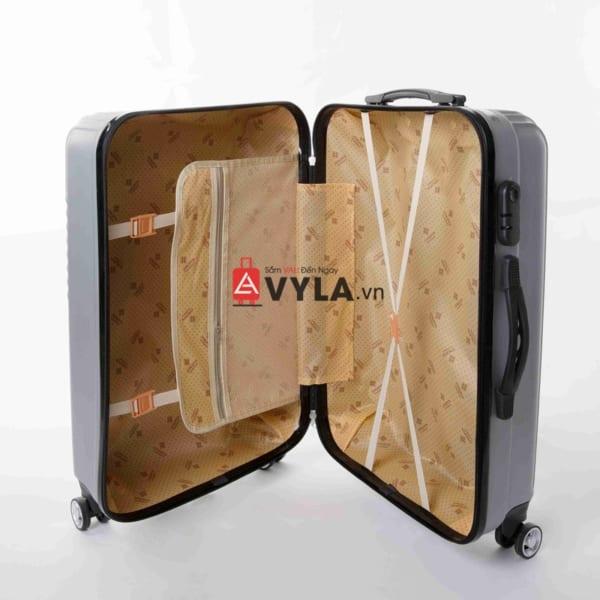 Vali kéo nhựa trơn màu xám size 20 mẫu 6 giá rẻ tại tphcm