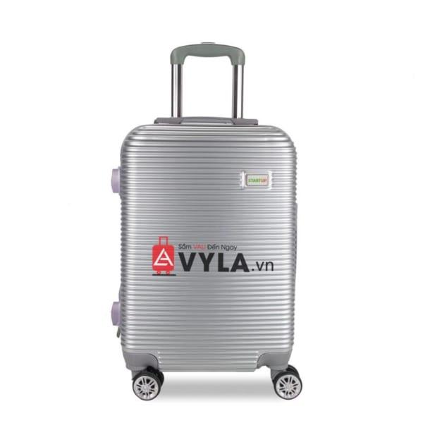 Vali kéo nhựa trơn màu xám size 20 mẫu 8 giá rẻ