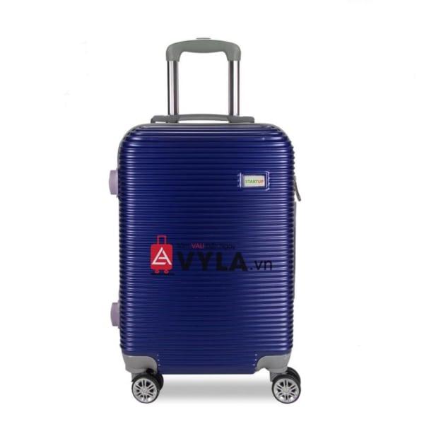 Vali kéo nhựa trơn màu xanh size 20 mẫu 8 giá rẻ