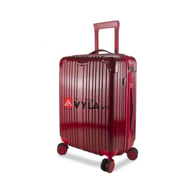 vali kéo nhựa trơn màu đỏ size 20 mẫu 1 giá rẻ