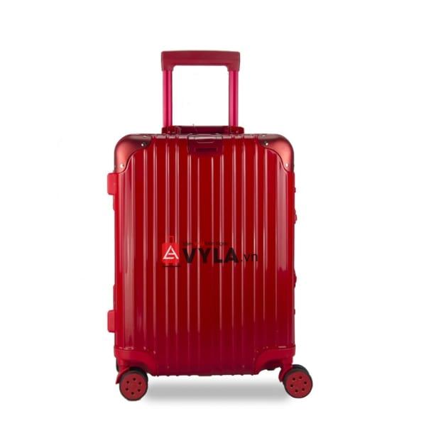 vali kéo nhựa trơn màu đỏ size 20 mẫu 1 giá rẻ tại tphcm