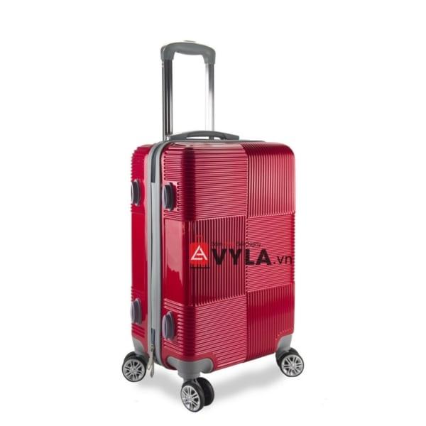 Vali kéo nhựa trơn màu đỏ size 20 mẫu 2 giá