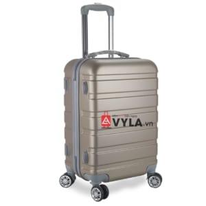 Vali kéo nhựa trơn màu đồng size 20 mẫu 3