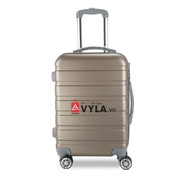 Vali kéo nhựa trơn màu đồng size 20 mẫu 3 giá rẻ