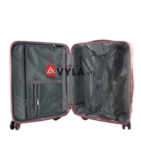 vali kéo nhựa trơn màu hồng size 20 mẫu 1 giá rẻ