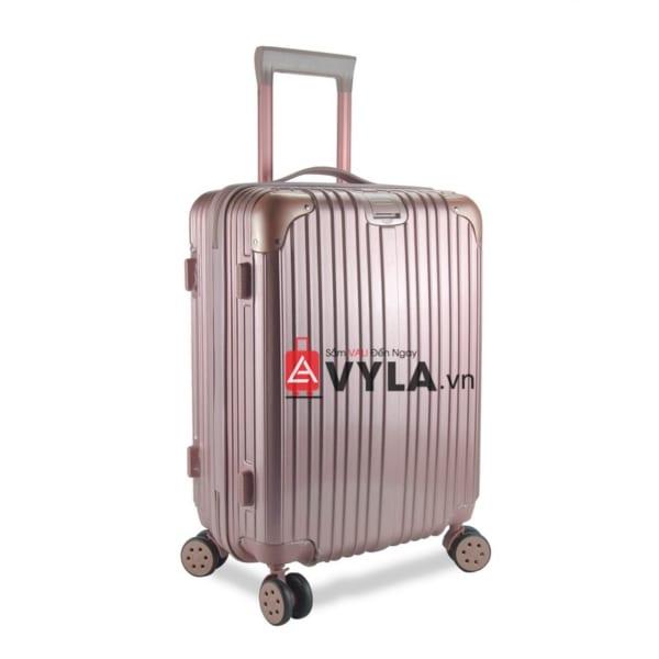 vali kéo nhựa trơn màu hồng size 20 mẫu 1 chất lượng