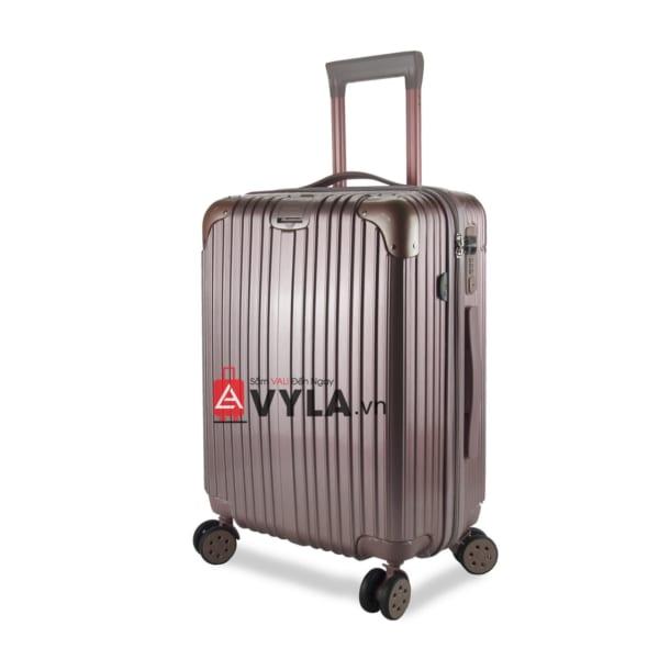 vali kéo nhựa trơn màu hồng size 20 mẫu 1 đẹp