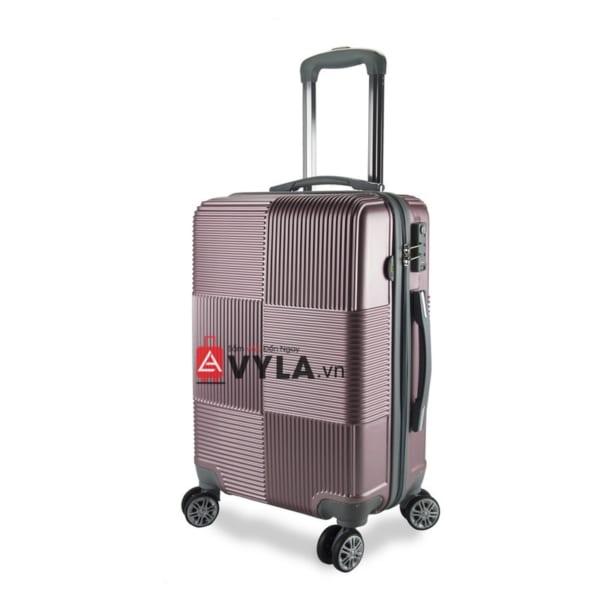 Vali kéo nhựa trơn màu đỏ size 20 mẫu 2 giá rẻ