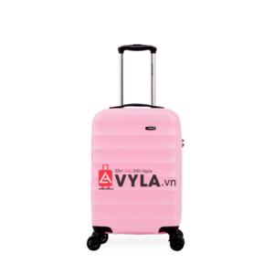Vali kéo nhựa trơn màu hồng xanh size 20 mẫu 1 đẹp giá rẻ