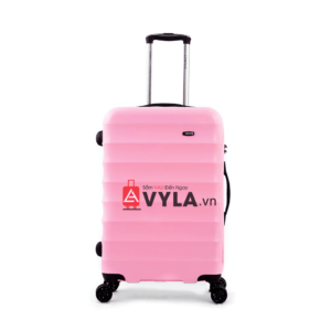 Vali kéo nhựa trơn màu hồng xanh size 24 mẫu 1 đẹp giá rẻ