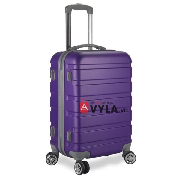 Vali kéo nhựa trơn màu tím size 20 mẫu 3 giá rẻ
