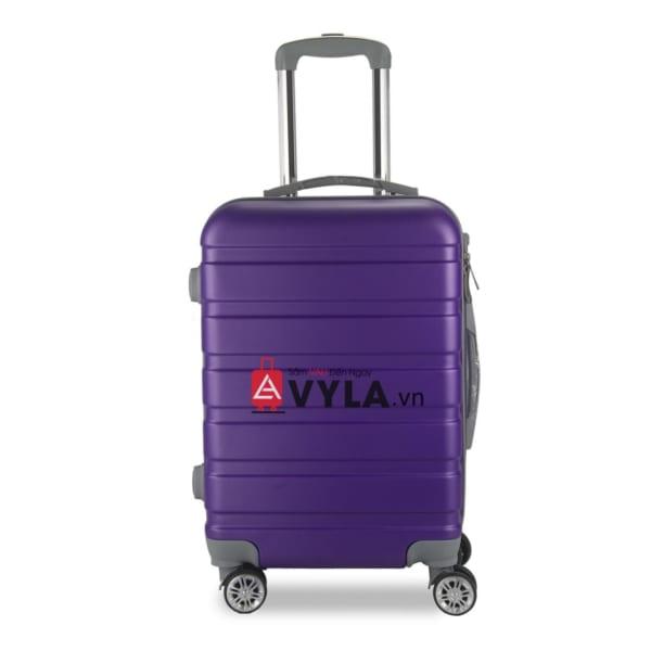 Vali kéo nhựa trơn màu tím size 20 mẫu 3