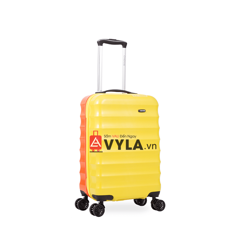 Vali kéo nhựa trơn màu vàng cam size 20 mẫu 1 đẹp giá