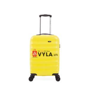 Vali kéo nhựa trơn màu vàng cam size 20 mẫu 1 đẹp giá rẻ