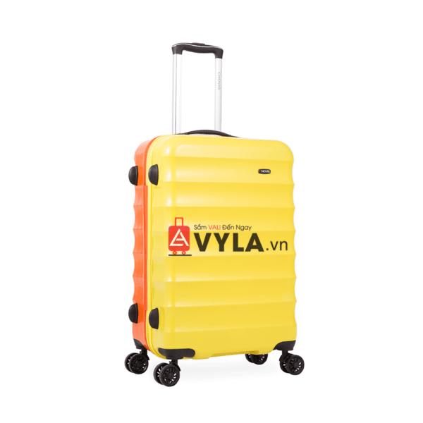 Vali kéo nhựa trơn màu vàng cam size 24 mẫu 1 đẹp tphcm