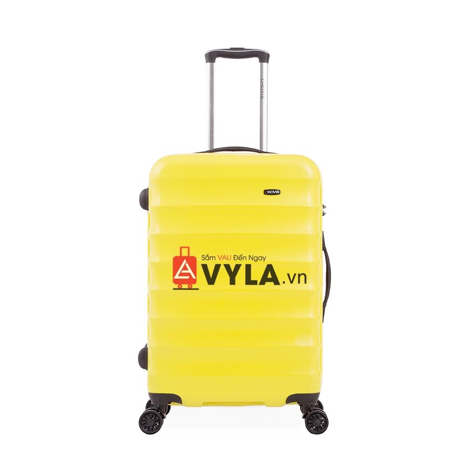 Vali kéo nhựa trơn màu vàng cam size 24 mẫu 1 đẹp giá rẻ