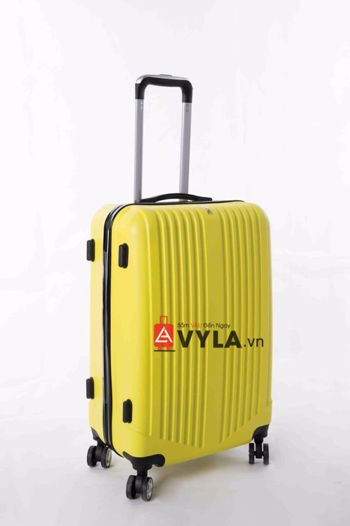 Vali kéo nhựa trơn màu vàng size 20 mẫu 5 giá rẻ tại hcm