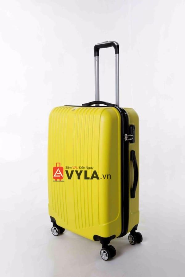 Vali kéo nhựa trơn màu vàng size 20 mẫu 5 giá rẻ