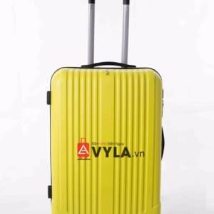 Vali kéo nhựa trơn màu vàng size 20 mẫu 5 giá rẻ tại tphcm