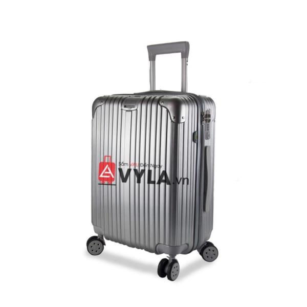 Vali kéo nhựa trơn màu xám size 20 mẫu 1 giá rẻ