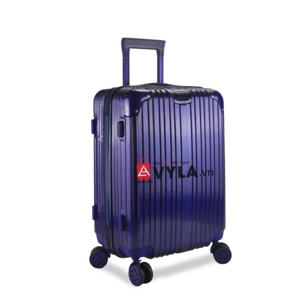 Vali kéo nhựa trơn màu xanh size 20 mẫu 1