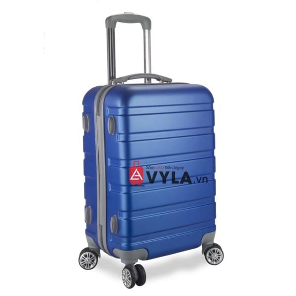 Vali kéo nhựa trơn màu xanh size 20 mẫu 3 đẹp giá