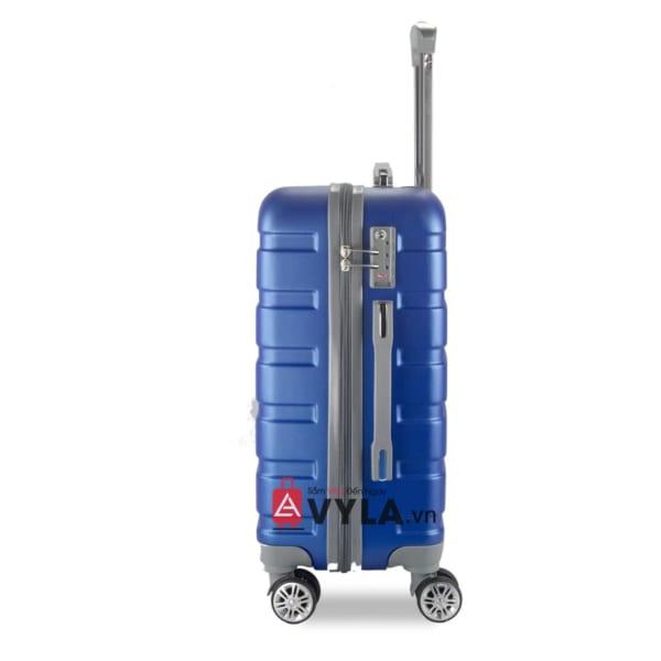 Vali kéo nhựa trơn màu xanh size 20 mẫu 3 đẹp