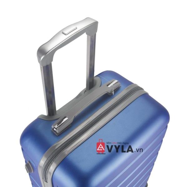 Vali kéo nhựa trơn màu xanh size 20 mẫu 3