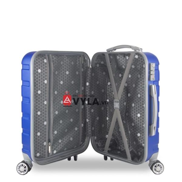 Vali kéo nhựa trơn màu xanh size 20 mẫu 3 chất lượng
