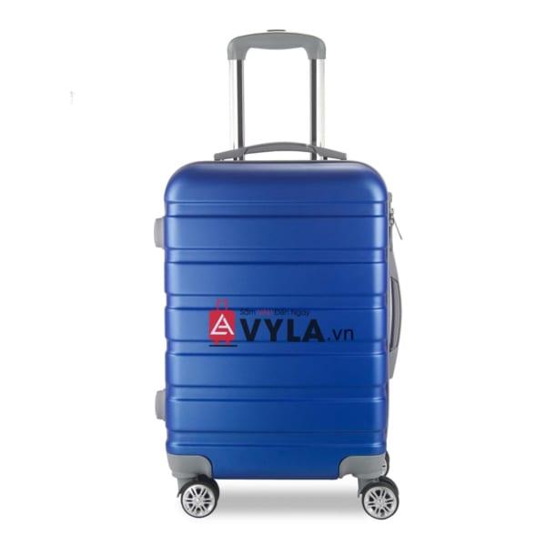Vali kéo nhựa trơn màu xanh size 20 mẫu 3 đẹp giá rẻ