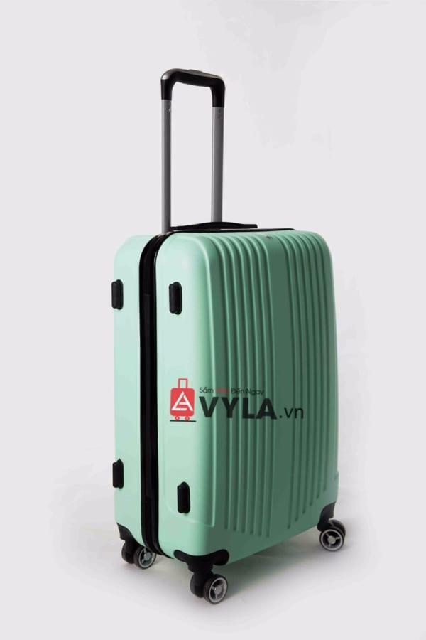 Vali kéo nhựa trơn màu xanh lá size 20 mẫu 5 giá rẻ tại hcm