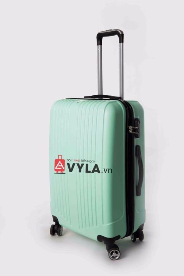 Vali kéo nhựa trơn màu xanh lá size 20 mẫu 5 giá rẻ