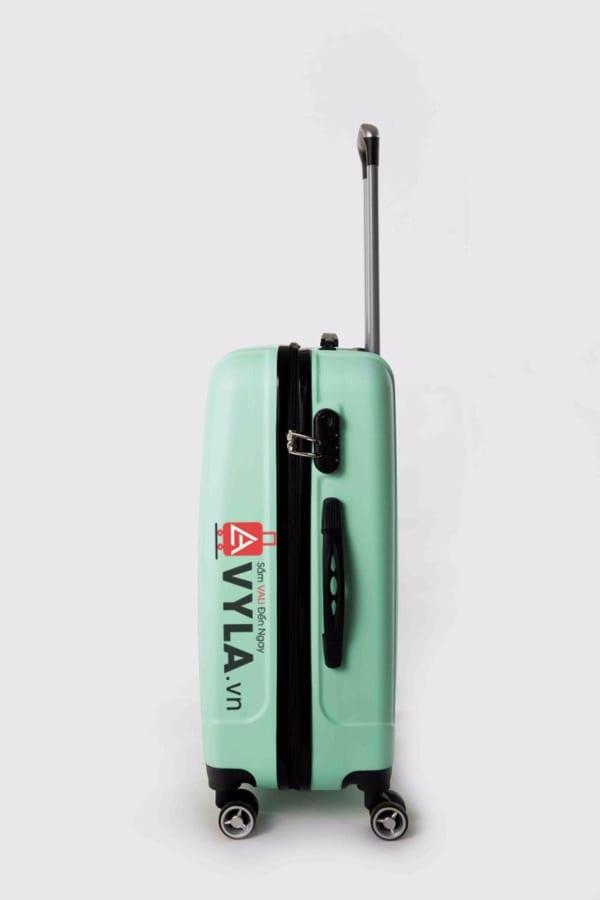 Vali kéo nhựa trơn màu xanh lá size 20 mẫu 5 giá