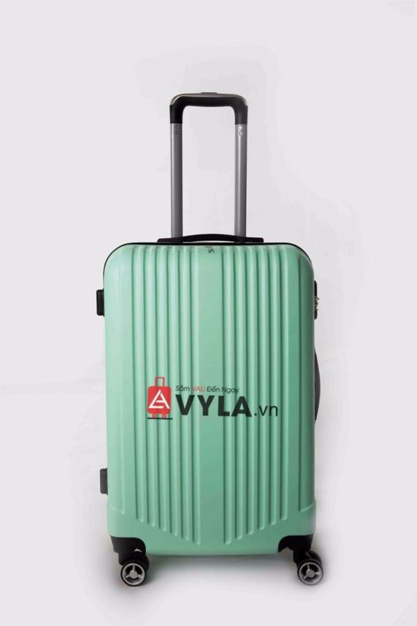 Vali kéo nhựa trơn màu xanh lá size 20 mẫu 5 giá rẻ tại tphcm