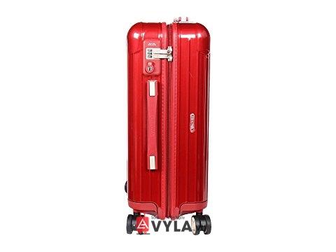 Vali kéo nhựa trơn màu đỏ đẹp