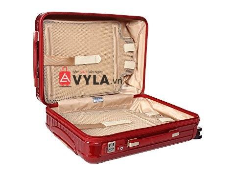 Vali kéo nhựa trơn màu đỏ hcm
