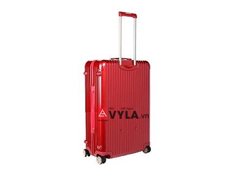 Shop vali kéo nhựa trơn màu đỏ tphcm