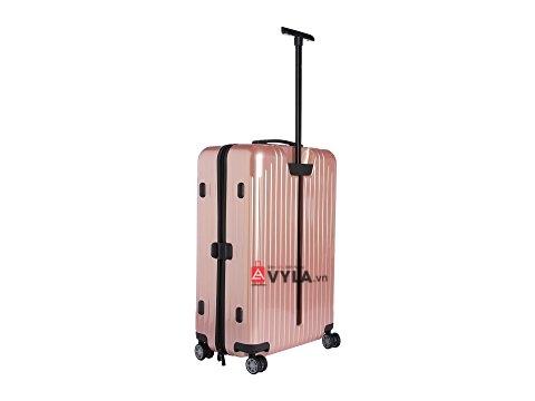 Cửa hàng bán vali kéo nhựa trơn rimowa hồng rẻ