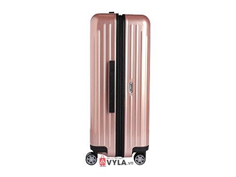 Vali kéo nhựa trơn rimowa màu hồng size 20 mẫu 1