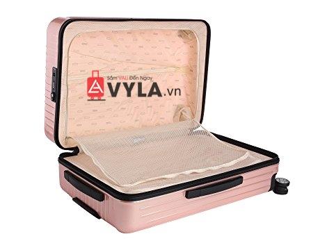 Vali kéo nhựa trơn rimowa màu hồng